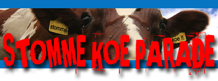 Stomme koe parade banner